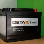 Akumulators 55Ah Deta Standard 460A 12V