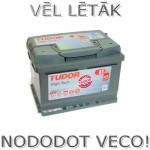 Akumulators Tudor High Tech 61Ah 600A zemais