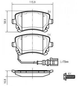 Bremzu kluci aizmugurejie Ferodo FVR1644