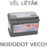 Akumulators 72Ah Deta Senator 3 720A 12V zemais