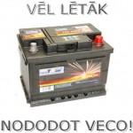 Akumulators 60Ah Wertteile 540A 12V zemais