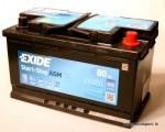 Akumulators 80Ah Exide AGM 800A 12V