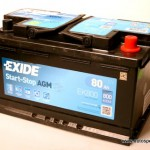 Akumulators 80Ah Exide AGM 800A 12V