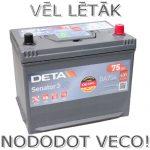 Akumulators 75Ah Deta 630A 12V augstais