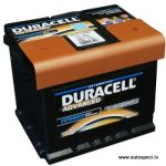 Akumulators 44Ah Duracell Advanced 420A 12V zemais