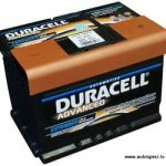 Akumulators 62Ah Duracell Advanced 540A 12V