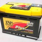 Akumulators 74Ah ZAP Sznajder 680A 12V