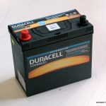 Akumulators 45AH Duracell 390A 12V reverss
