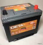 Akumulators 60AH Deta Power 480A 12V