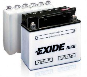 Akumulators moto 4Ah 50A Exide EB4L-B 12V. Cena 20.00 Eur