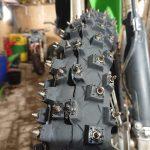 """Ziemas motokrosa riepa ar radzēm Mitas C-17 """"Sniega +"""" 90/90-21, priekšējā.Cena 155.00 Eur"""