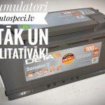 Akcija! Akumulators 100AH Deta Senator3 900A 12V