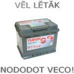 Akumulators 64Ah Tudor High Tech 640A 12V