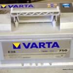 Akumulators 74Ah Varta Silver 750A 12V zemais