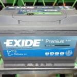 Akumulators 77Ah Exide Premium 760A 12V
