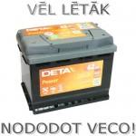 Akumulators 62Ah Deta Power 540A 12V