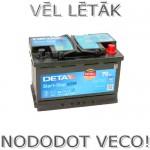 Akumulators 70Ah Deta AGM 760A 12V