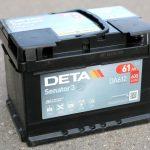 Akumulators 61Ah Deta Senator 3 600A 12V