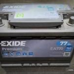Akumulators Exide Premium 77Ah, lietots, labs.
