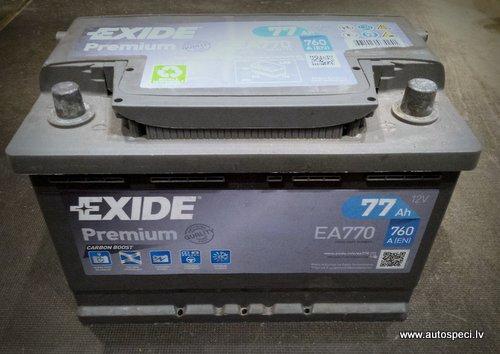 akumulators-exide-77-lietots