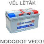 Akumulators 80Ah Bi-Force 700A 12V zemais