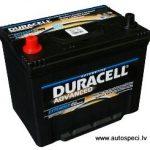 Akumulators 70Ah Duracell Advanced 570A 12V kreisais pluss, augstais