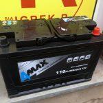 Akumulators 110AH 4-MAX lauktehnikai 850A 12V