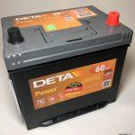 Akumulators 60AH Deta Power 480A 12V