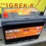 Akumulators 70AH Deta Power 540A 12V