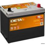 Akumulators 70AH Deta Power 540A 12V Asia