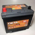 Akumulators 60AH Deta Power 480A 12V REVERSS