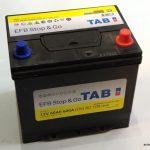 Akumulators 60AH EFB TAB Stop & Go 600A Asia
