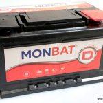 Akumulators 75Ah Monbat 680A 12V zemais
