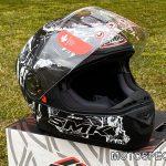 Moto ķivere ar saulesbrillēm SMK TWISTER. Cena 71,00 Eur