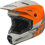 Moto ķivere FLY KINETIC STRAIGHT EDGE ECE melns/ oranžs/ matēts. Cena 85.00 Eur