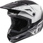 Moto ķivere FLY KINETIC STRAIGHT EDGE ECE melns/ balts. Cena 85.00 Eur