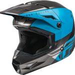 Moto ķivere FLY KINETIC STRAIGHT EDGE ECE melns/ zils. Cena 85.00 Eur