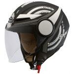 Moto ķivere SMK Streem Heroic atvērtā tipa rolleru/ pilsētas, balta/ matēta/ melna. Cena 50,00 Eur