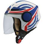 Moto ķivere SMK Streem Heroic atvērtā tipa rolleru/ pilsētas, balta/ matēta/ zila. Cena 50,00 Eur