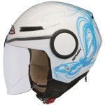Moto ķivere SMK Streem Fantasy atvērtā tipa rolleru/ pilsētas, balta/ zila. Cena 50,00 Eur